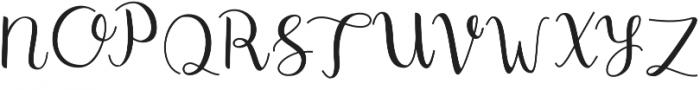 Shefilla Regular otf (400) Font UPPERCASE