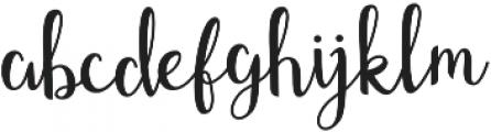 Shefilla Regular otf (400) Font LOWERCASE
