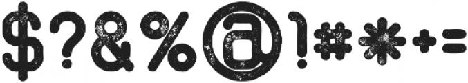 Shelby bold grunge otf (700) Font OTHER CHARS