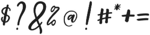 Shellion Slant Regular otf (400) Font OTHER CHARS