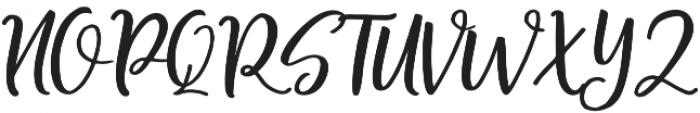 Shellion Slant Regular otf (400) Font UPPERCASE