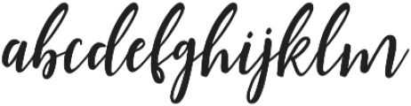 Shellion Slant Regular otf (400) Font LOWERCASE