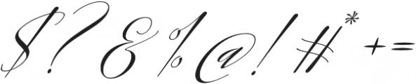Sheraton Script otf (400) Font OTHER CHARS
