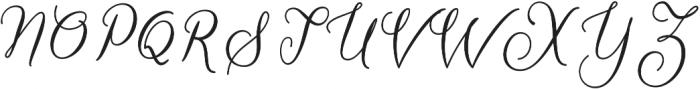 Sherina otf (400) Font UPPERCASE