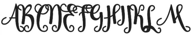 Sheyna otf (400) Font UPPERCASE