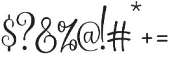 Shidea otf (400) Font OTHER CHARS