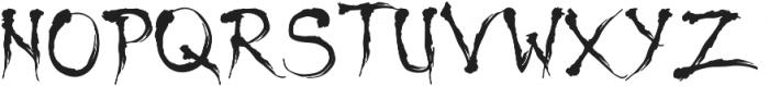Shinigami otf (400) Font UPPERCASE