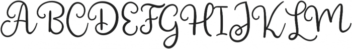 Shining Glory otf (400) Font UPPERCASE