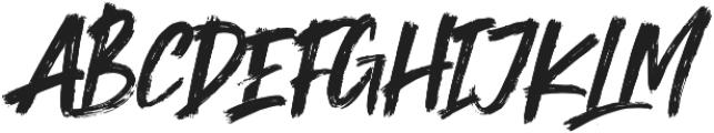 Shockwave Brush Caps otf (400) Font UPPERCASE