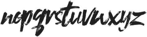 Shockwave Brush Caps otf (400) Font LOWERCASE