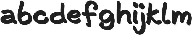 Shode Fluffy otf (700) Font LOWERCASE