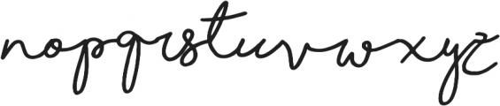 Shorelines Script Bold otf (700) Font LOWERCASE