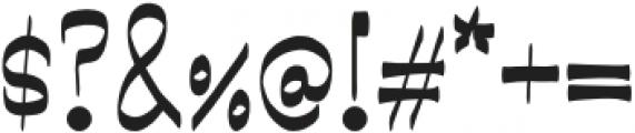 Showboat Regular otf (400) Font OTHER CHARS