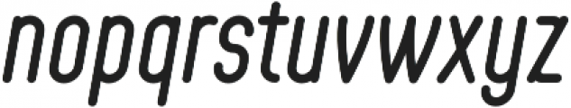 Showcard Draftsman Regular Oblique otf (400) Font LOWERCASE