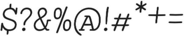 Showcase Slab Italic otf (400) Font OTHER CHARS