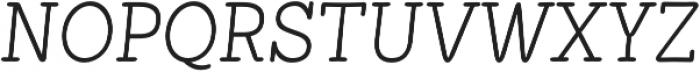 Showcase Slab Italic otf (400) Font UPPERCASE