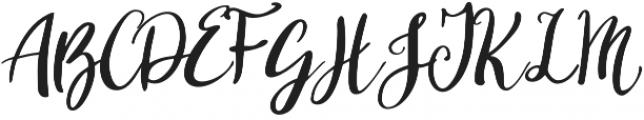 Showing otf (400) Font UPPERCASE