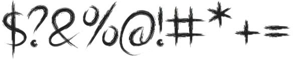 Shrub otf (400) Font OTHER CHARS