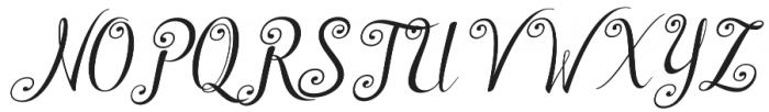 Shyntia Bella Regular otf (400) Font UPPERCASE