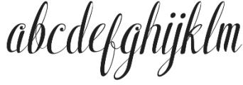Shyntia Bella Regular otf (400) Font LOWERCASE