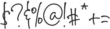 sherly otf (400) Font OTHER CHARS