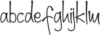 sherly ttf (400) Font LOWERCASE
