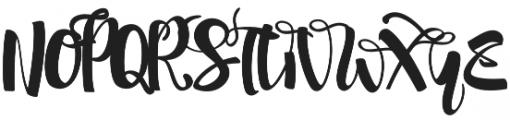 shintya Regular otf (400) Font UPPERCASE