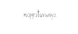 SharoonRegular.otf Font LOWERCASE