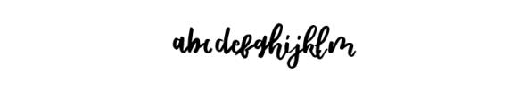 Shella Rough.otf Font LOWERCASE