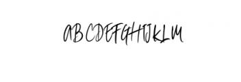 shitta script.otf Font UPPERCASE