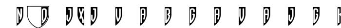 Shield Three Black Font OTHER CHARS