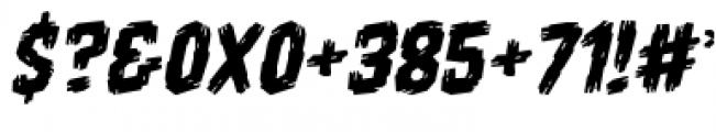Shrunken Head BB Italic Font OTHER CHARS