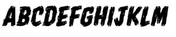 Shrunken Head BB Italic Font UPPERCASE
