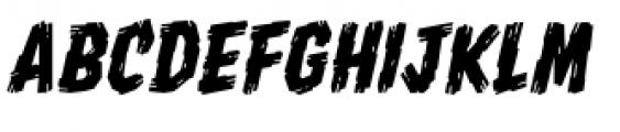 Shrunken Head BB Italic Font LOWERCASE