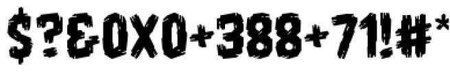 Shrunken Head BB Regular Font OTHER CHARS