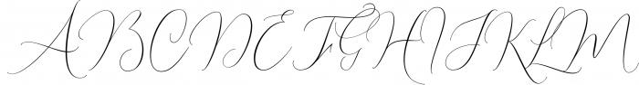 Shailene Script Font Font UPPERCASE