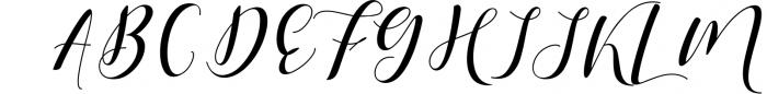 Shania Sweet Calligraphy Modern Font UPPERCASE