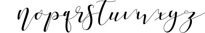 Shania Sweet Calligraphy Modern Font LOWERCASE