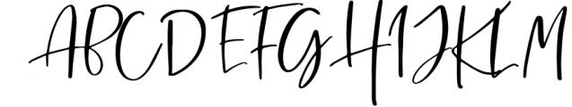 Sharon Baker - Modern Script Font UPPERCASE