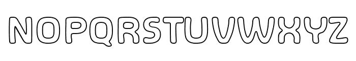SHA Outline Font UPPERCASE