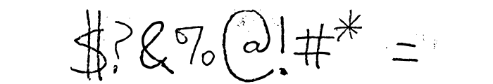 Shabby Ball Point Font OTHER CHARS