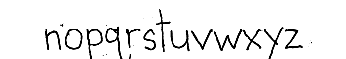 Shabby Ball Point Font LOWERCASE
