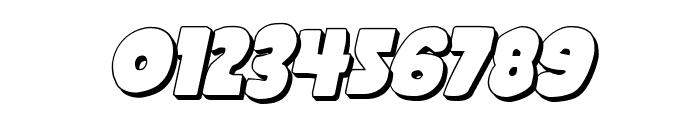 Shablagoo 3D Italic Font OTHER CHARS