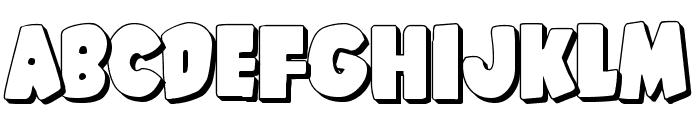 Shablagoo 3D Font UPPERCASE