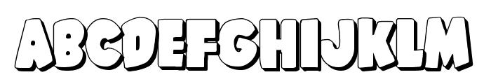 Shablagoo 3D Font LOWERCASE