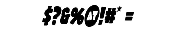 Shablagoo Condensed Italic Font OTHER CHARS