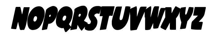 Shablagoo Condensed Italic Font UPPERCASE