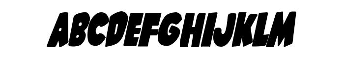 Shablagoo Condensed Italic Font LOWERCASE