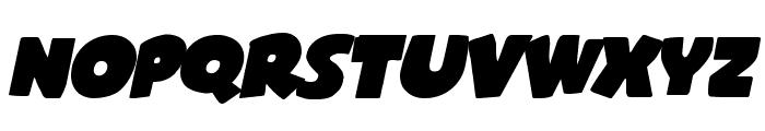 Shablagoo Expanded Italic Font LOWERCASE