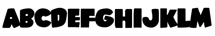 Shablagoo Expanded Font UPPERCASE